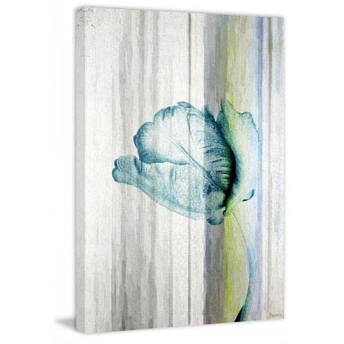 Parvez Taj Water Flower 40 x 60 In. Painting Print on Wrapped Canvas