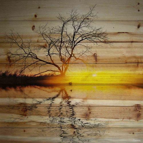 Parvez Taj Killaloe 40 In. Painting Print on Natural Pine Wood