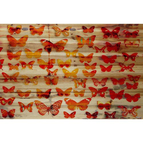 Parvez Taj Cheerful 45 x 30 In. Painting Print on Natural Pine Wood