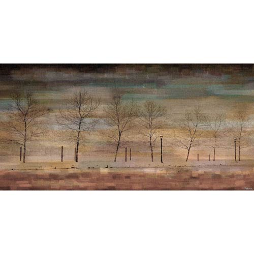 Parvez Taj The Woods 24 x 12 In. Painting Print on Wrapped Canvas