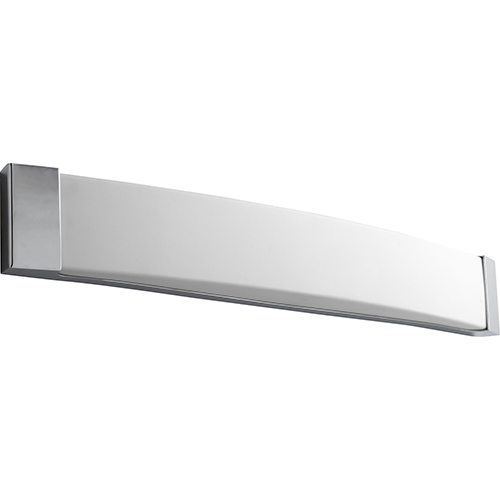 Oxygen Lighting Apollo Polished Chrome 37-Inch Two-Light Bath Vanity