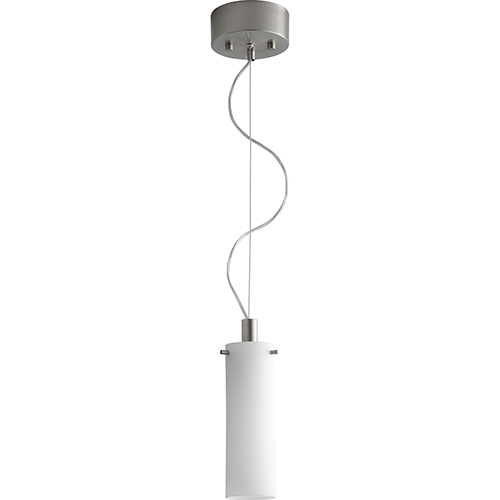 Lotus Satin Nickel One-Light Mini Pendant