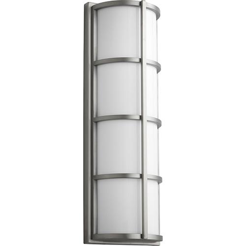 Leda Satin Nickel 22-Inch Two-Light 120V/277V Outdoor Wall Mount