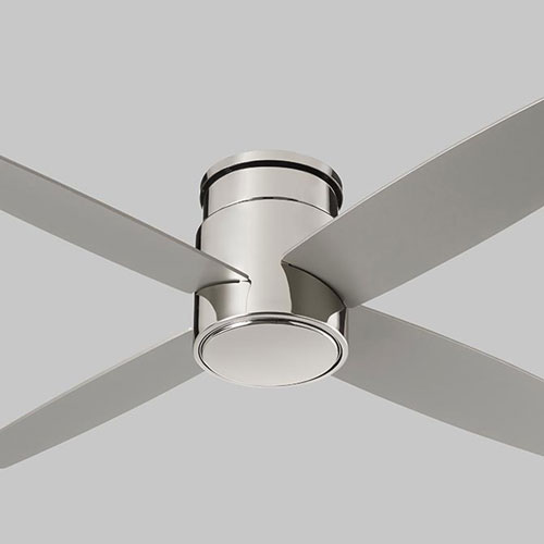 Oxygen Lighting Oslo Hugger Polished Chrome 52 Inch Ceiling Fan 3 102 20 Bellacor
