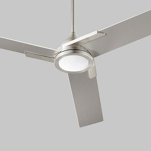 Coda Satin Nickel 56-Inch Ceiling Fan
