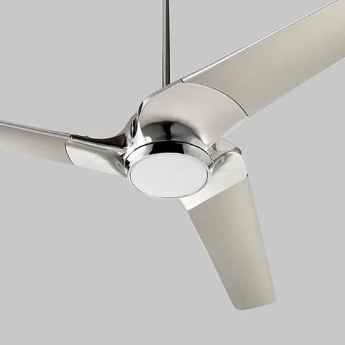 Sol Polished Chrome 52-Inch Ceiling Fan