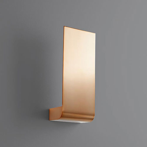 Halo Satin Copper Five-Inch LED 120V Sconce