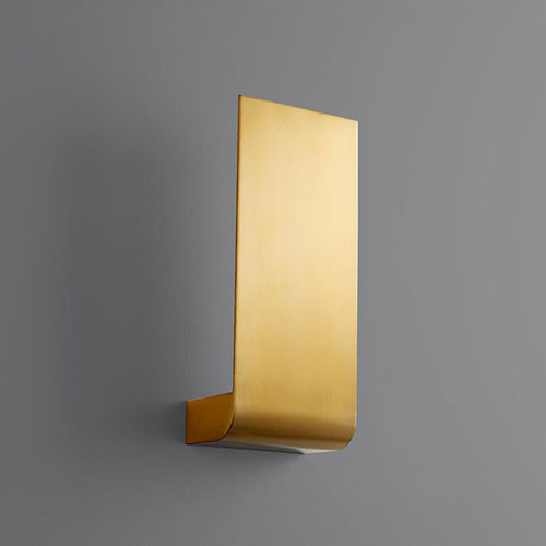 Halo Aged Brass Five-Inch LED 120V Sconce