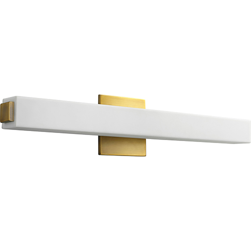 Adelphi Aged Brass One-Light LED Bath Vanity