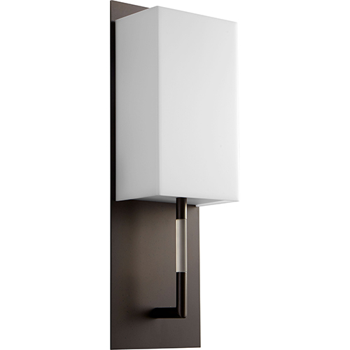 Epoch Oiled Bronze One-Light LED Wall Sconce with Matte White Shade