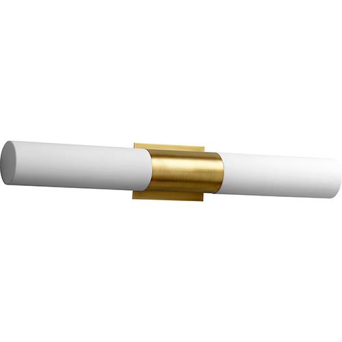 Oxygen Lighting Magnum Aged Brass Two-Light LED Bath Vanity