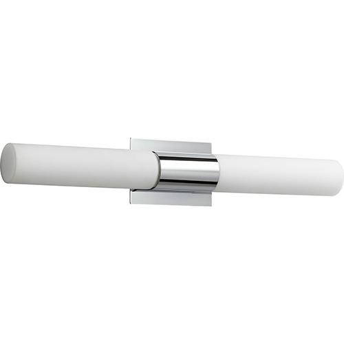 Magneta Polished Chrome 27-Inch Two-Light LED Bath Vanity with Matte Opal Glass