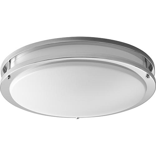 Oxygen Lighting Oracle Polished Chrome Two-Light LED Flush Mount
