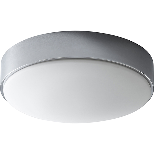 Journey Polished Chrome Two-Light LED Flush Mount with Matte White Shade