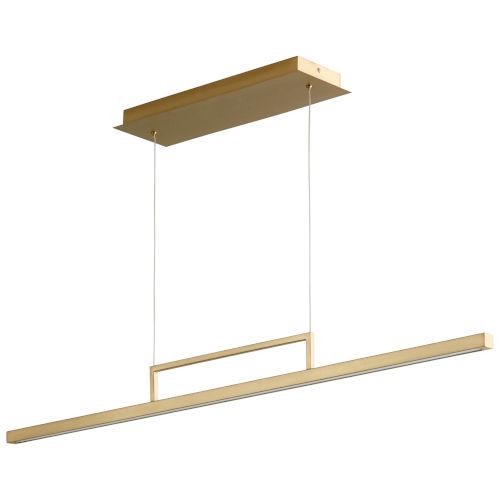 Stylus Aged Brass LED Pendant