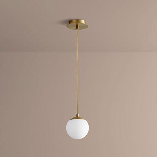 Luna Aged Brass Six-Inch LED 120V Pendant