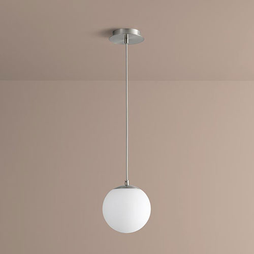 Luna Satin Nickel Eight-Inch LED 120V Pendant
