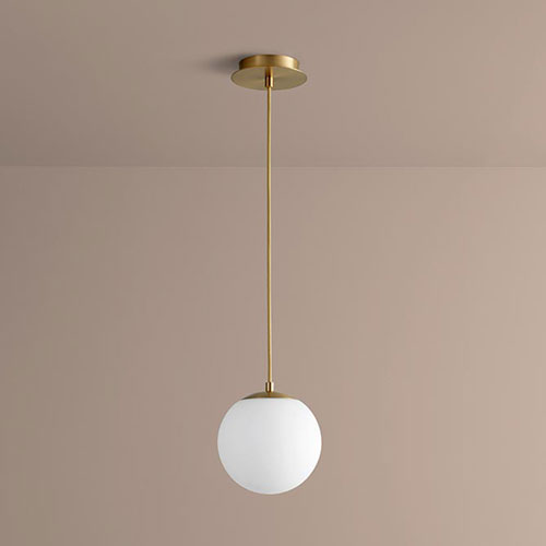 Luna Aged Brass Eight-Inch LED 120V Pendant