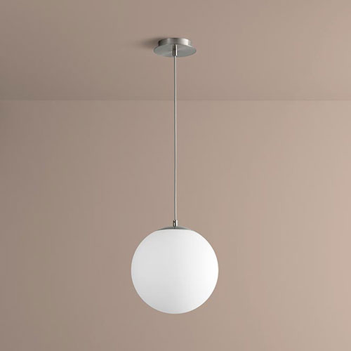 Luna Satin Nickel 12-Inch LED 120V Pendant