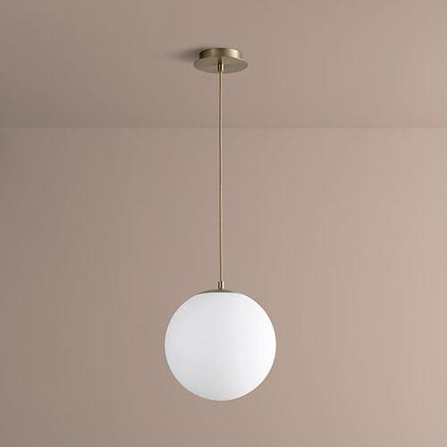 Luna Aged Brass 12-Inch LED 120V Pendant