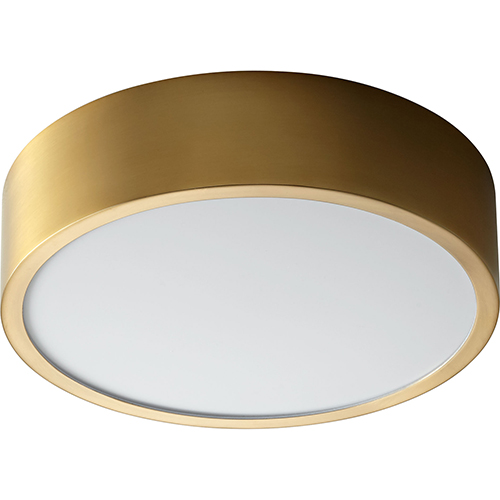 Oxygen Lighting Peepers Aged Brass One-Light LED 120V/277V Flush Mount