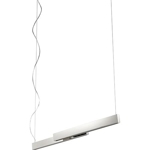 Klone Polished Nickel Two-Light LED 120V/277V Linear Pendant