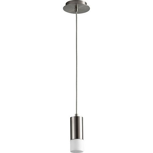 Oxygen Lighting Magneta Satin Nickel 10-Inch One-Light LED 277V Mini Pendant with Matte Opal Glass