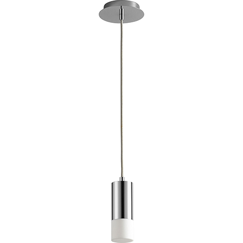 Oxygen Lighting Magneta Polished Chrome 10-Inch One-Light LED 277V Mini Pendant with Matte White Shade