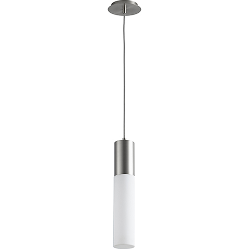 Oxygen Lighting Magnum Satin Nickel One-Light LED 277V Mini Pendant