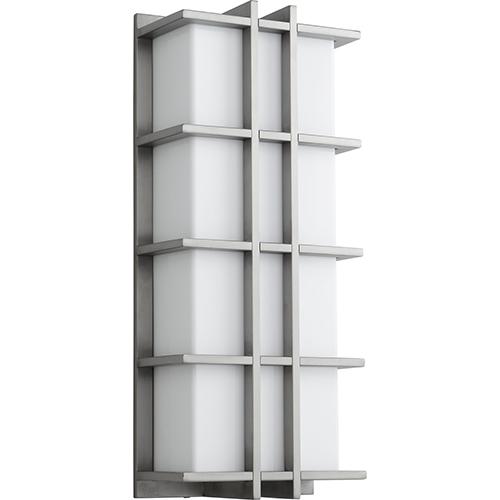 Oxygen Lighting Telshor Satin Nickel Two-Light LED 277V Outdoor Wall Mount