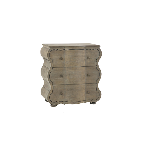 Melrose Weathered Gray Oak and Aged Bronze 32-Inch Chest