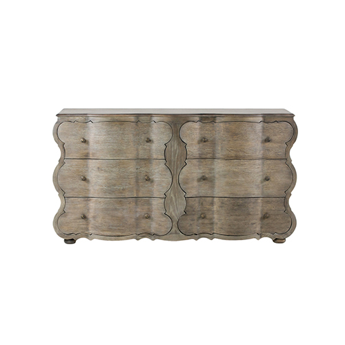 Gabby Home Melrose Weathered Gray Oak and Aged Bronze 64-Inch Chest