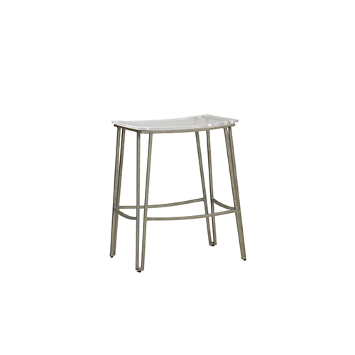 Pierce Antique Silver Metal 18-Inch Barstool