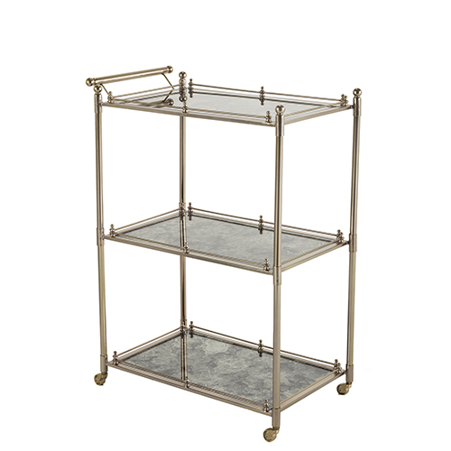 antique bar cart. Gabby Home Lloyd Brushed Gold And Black Antique 26-Inch Bar Cart