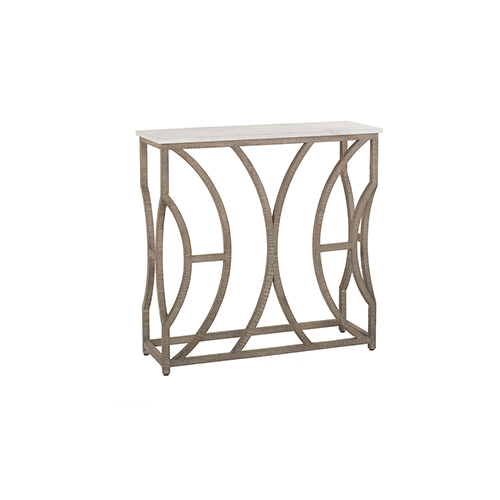 Gabby Home Helen Charcoal Oak And Cloud White Marble 36 Inch Console Table