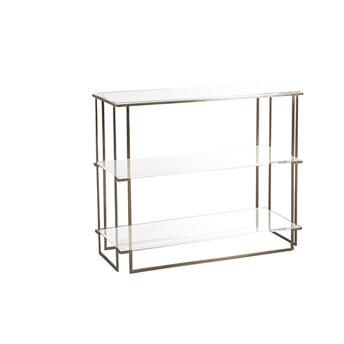 Gabby Home Lucy Brushed Gold And Clear Acrylic 36 Inch Console Table