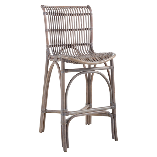 Gabby Home Kevin Gray Rattan 21 Inch Counter Stool Sch 158070 Bellacor