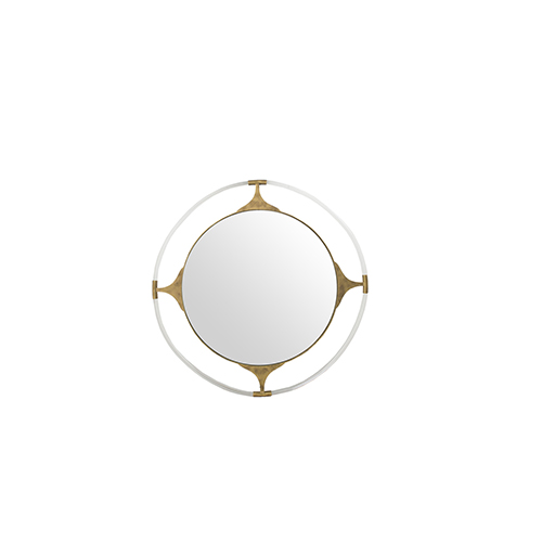 Callisto Gilded Gold and Clear Acrylic 41-Inch Mirror