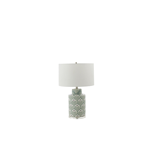 Phoebe Mint Green Ceramic 8-Inch Table Lamp