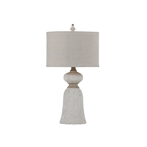 Gabby Home Dawn Antique White And Gold Leaf 7 Inch Table Lamp