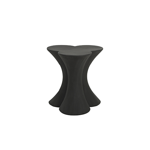 Carlin Textured Charcoal Black End Table