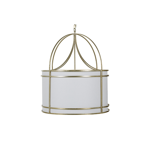 Gracie Champagne And White Acrylic Diffuser Four-Light ChAndelier