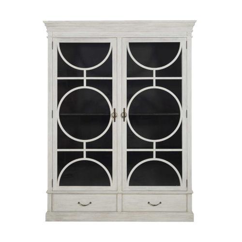 Rhett Sesame White and Satin Black 66-Inch Cabinet
