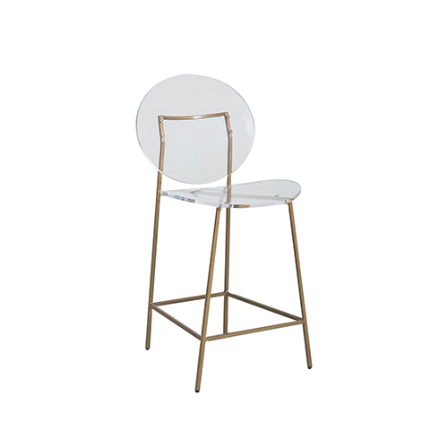 decorative stools for living room.htm gabby home sandy clear acrylic and antique gold counter stool sch  antique gold counter stool
