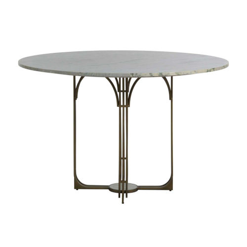 Greene Meadow Green and Brushed Brass 48-Inch Dining Table