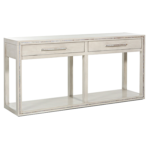 Gabby Home Dara Sesame White And Mother Of Pearl Console