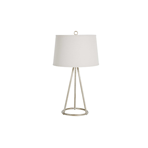 Juniper Matte White And Antique Brass One-Light Table Lamp