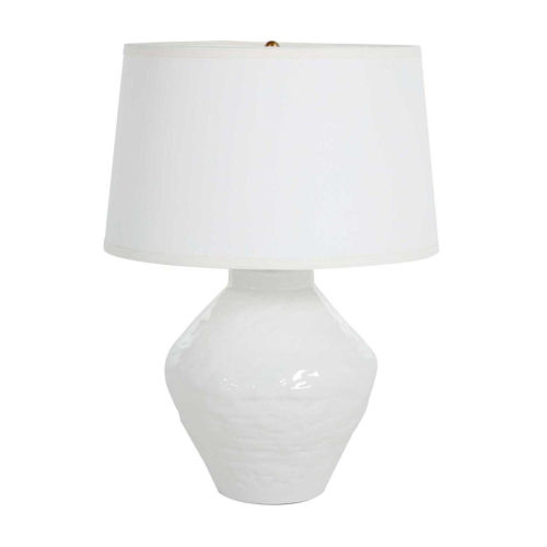 Osborn Textured White and Antique Brass One-Light Table Lamp