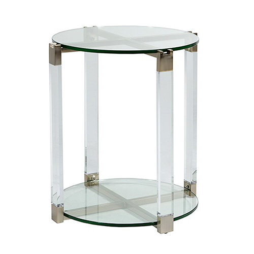 Ginny Stainless Gold End Table