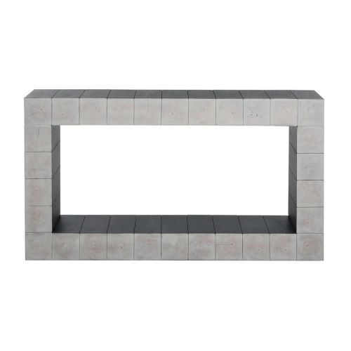 Rooney White and Black 66-Inch Console Table